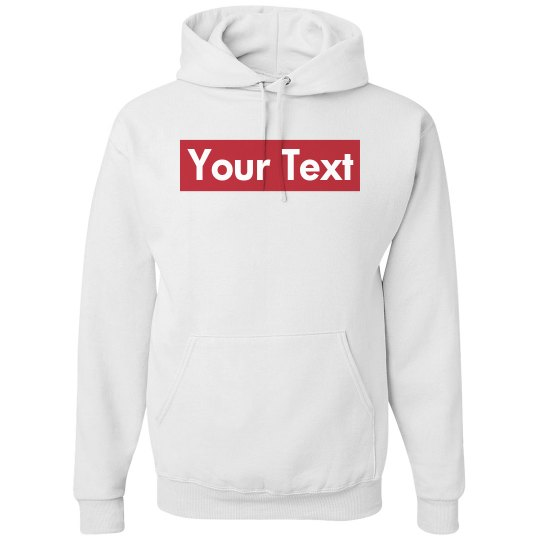 custom supreme your text here unisex basic promo hoodie