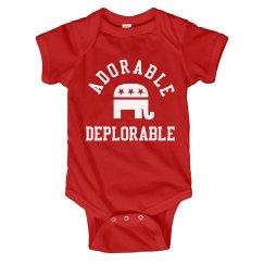 Adorable Deplorable Baby Republican