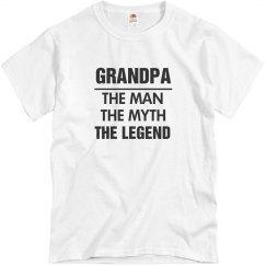 Legendary Grandpa Gift Shirt