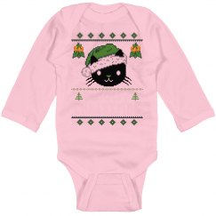 Meowy Christmas Baby Bodysuit