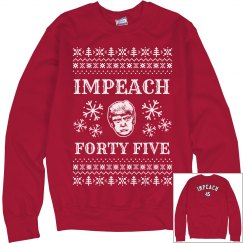 Red Impeach 45 Ugly Sweater