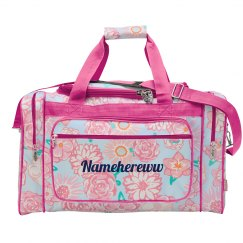 Floral Carry On Travel Bag Namehereww