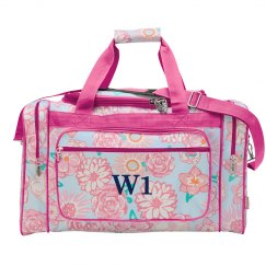 Cute Travel Bag Initial W1