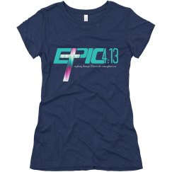 E.P.I.C. 4:13 - Women's T-Shirt with Teal Logo