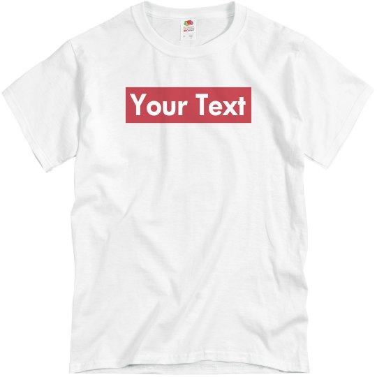 ADD YOUR OWN TEXT PHOTO  KIDS CHILD T-SHIRT PERSONALISED GIFT FRUIT OF THE LOOM
