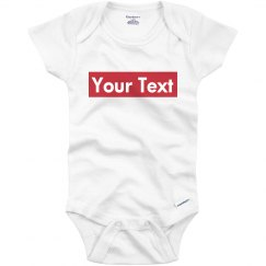 Supreme Parody Infant Bodysuit