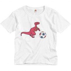 Dinosaur Playing Soccer