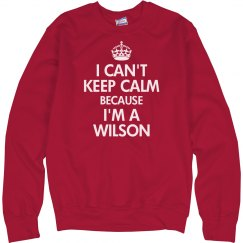 I can't keep calm wilson