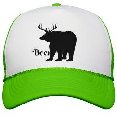 Deer Bear Beer Hat