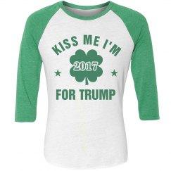 St. Pat's Kiss Me I'm For Trump