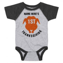 Custom 1st Thanksgiving Bodysuit