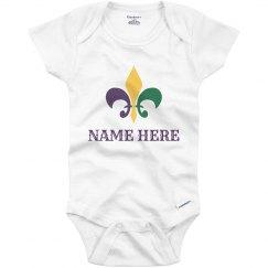 Custom Baby's Mardi Gras Onesie
