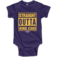 Straight Outta King Cake Onesie