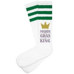 Mardi Gras King Socks