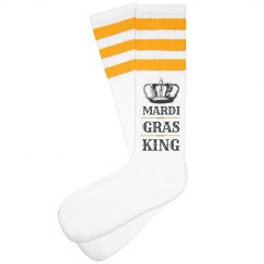 Fancy Mardi Gras King Socks