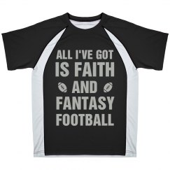 Faith & Fantasy Football Sports Tee