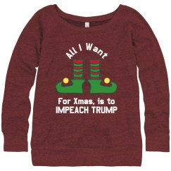 Impeach Trump Ugly sweater