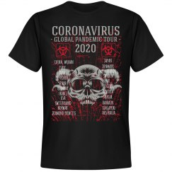 Coronavirus Global Pandemic Tour Band Tee