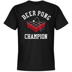 Beer Pong Champion Drinking Tee