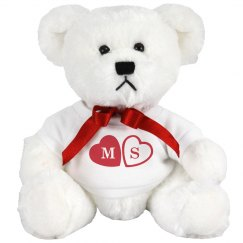Monogram Valentines Day Teddy Bear