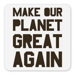 Make our planet great again brown magnet.