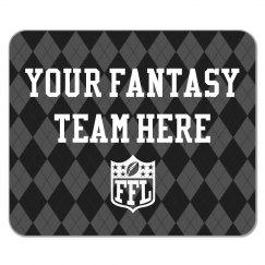 Custom Name Fantasy Football Classy Argyle Mousepad