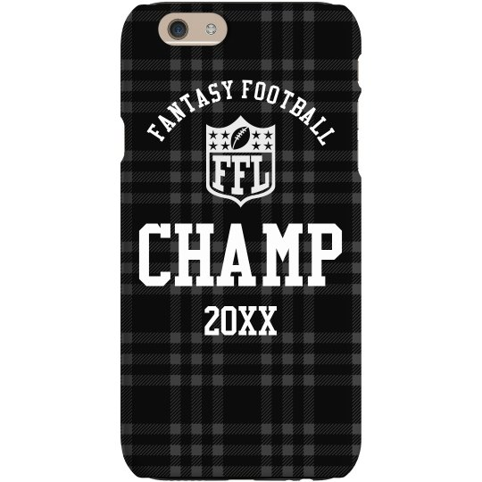 competitive price 4178e 8d47c Fantasy Football Champion Prize Custom Year Phone Case