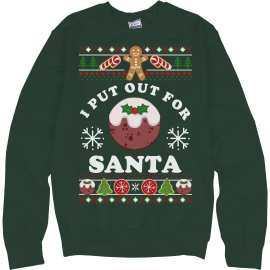 Put Out Ugly Sweaters For Xmas Unisex Ultimate Cotton Crewneck