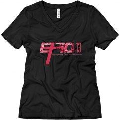 E.P.I.C. 4:13 - Women's V-Neck Shirt with Camo Logo