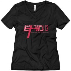E.P.I.C. 4:13 - Women's V-Neck Shirt with Camo Logo