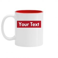 Custom Supreme Text Mug