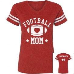 Cute Football Mom LASTNAMES