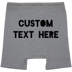 Add Your Text Custom Boxer Briefs