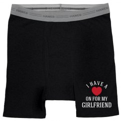 Custom Valentines Day Boxers Heather Grey Boxer Brief Underwear