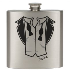 Groom Tux Flask