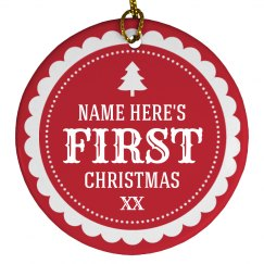 1st Christmas Custom Name