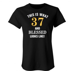 37 and blessed looks like