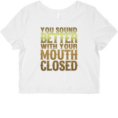 Mouth Closed Cropped Tee