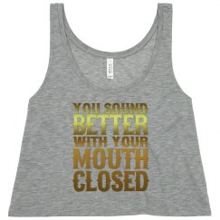 Mouth Closed Flowy Cropped Tank