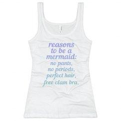 Reasons to be a Mermaid Slim Fit Rib Tank
