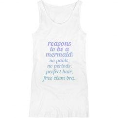 Reasons to be a Mermaid Maternity Tank