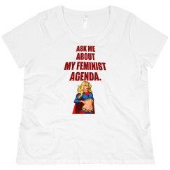 Feminist Agenda Scoop Neck Plus Size Tee