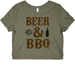 Beer & BBQ Cropped Tee