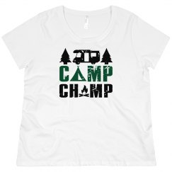 Camp Champ Scoop Neck Plus Size Tee