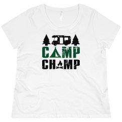 Camp Champ Scoop Neck Plus Size Tee