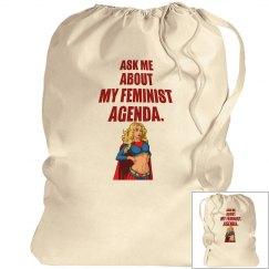Feminist Agenda Laundry Bag