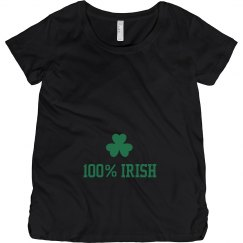 100% Irish St Pattys Maternity Top
