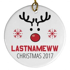 Autogen Popular Last Names Ornament