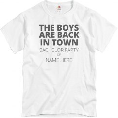 Custom Bachelor Party Tee for the Boys