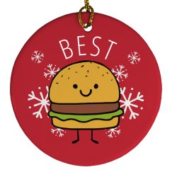 Best Friends Burger Ornament